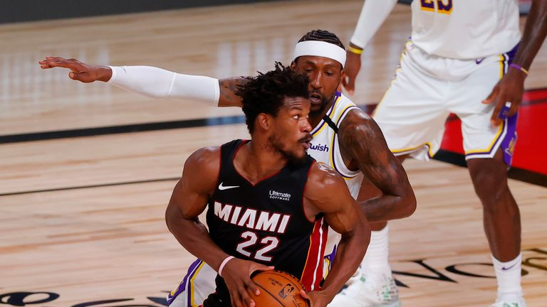 Jimmy Butler's 40-point triple-double helped Miami beat the Los Angeles Lakers in Game 3 of the NBA Finals.