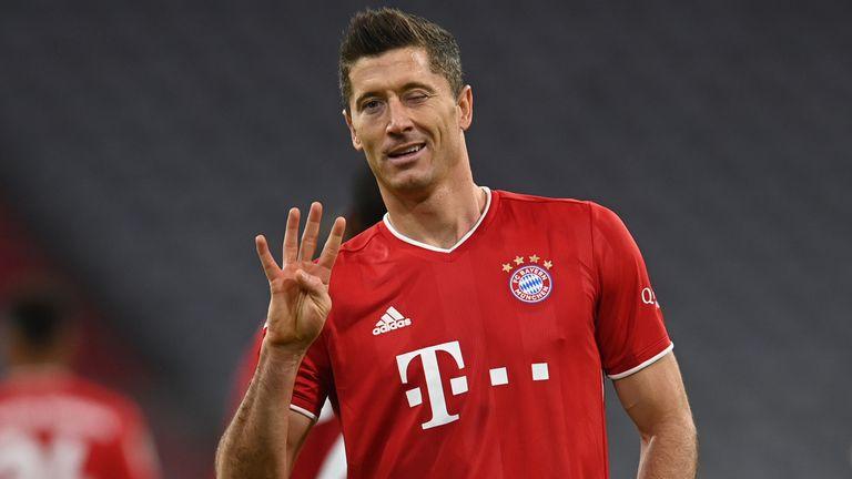 Robert Lewandowski Four Goal Haul Inspires Bayern Munich European Round Up Football News Sky Sports