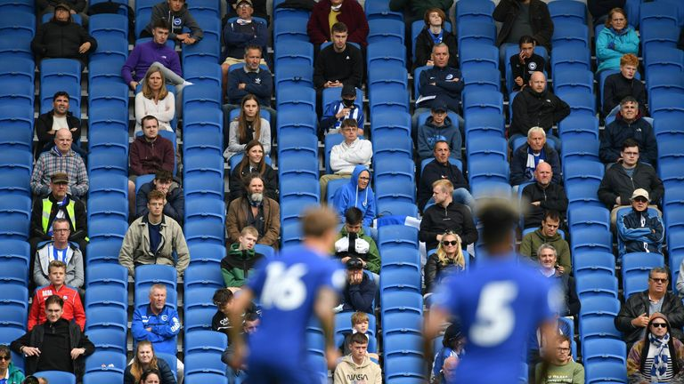 Brighton welcomed 2,500 fans for a pilot event in August as they played Chelsea in a friendly
