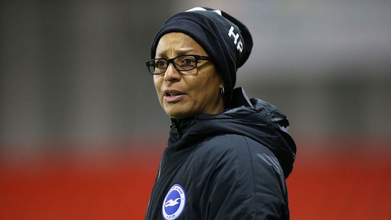 Current Brighton boss Hope Powell became the first black and first female coach an England national side in 1998