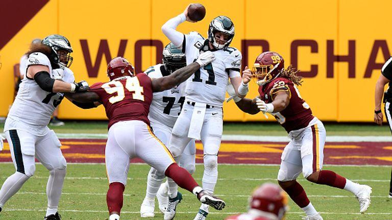 Washington forced Wentz into errors in Week One