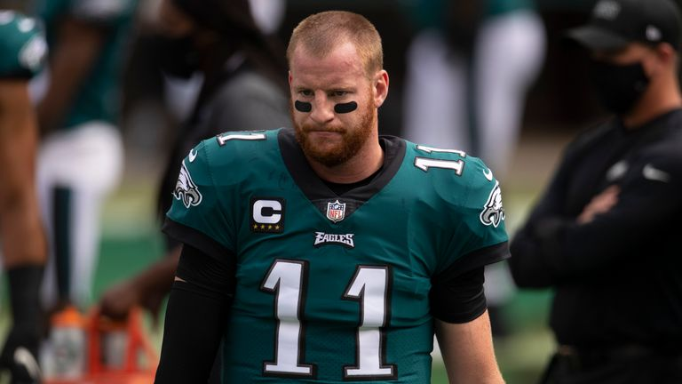 Carson Wentz has looked a shadow of his former self so far in the 2020 NFL season
