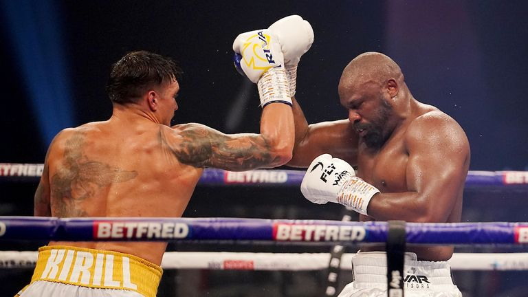 Usyk's footwork and skill was on display against Chisora