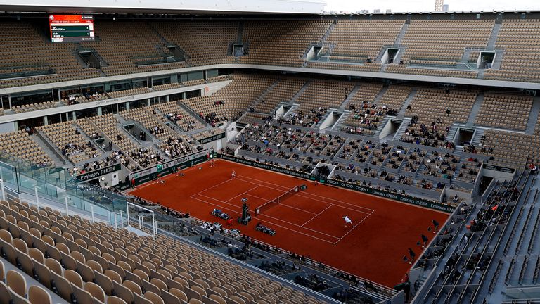 One thousand spectators were allowed to attend the women's final on Court Philippe Chatrier due to strict coronavirus protocols