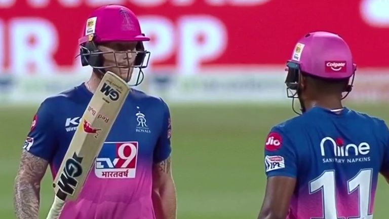 Ben Stokes hit his first half-century of IPL 2020 for Rajasthan Royals against Mumbai Indians