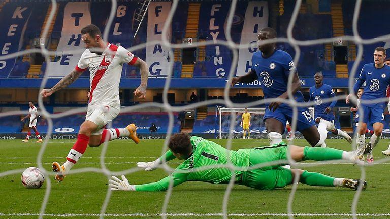 Danny Ings scores past Kepa Arrizabalaga