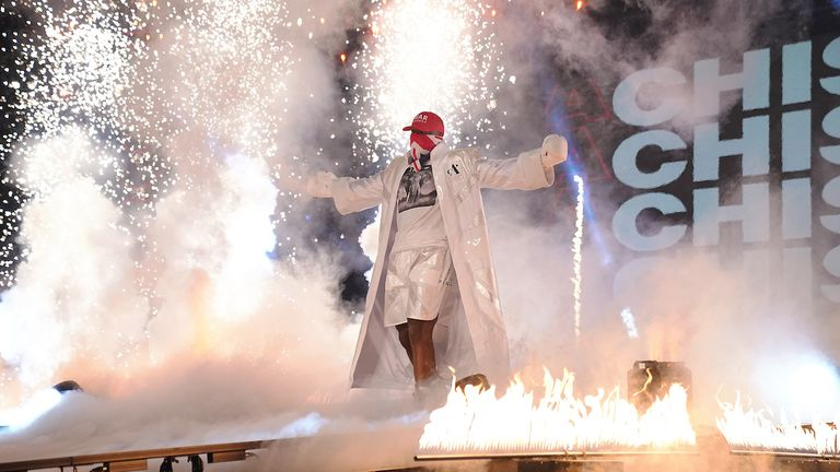 HANDOUT PICTURE COMPLIMENTS OF MATCHROOM BOXING.Oleksandr Usyk vs Derek Chisora, Heavyweight Contest..31 October 2020.Picture By Dave Thompson..Derek Chisora ring walk.