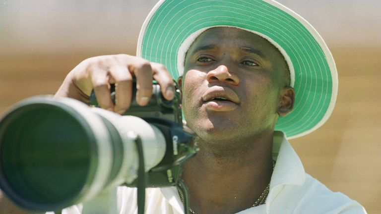 Devon Malcolm's cricketing career took off after pictures were taken of him bowling Geoffrey Boycott