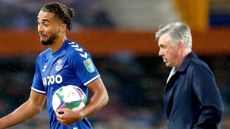 Dominic Calvert-Lewin collected his second match ball of the season after scoring his second hat-trick this term against West Ham in the Carabao Cup