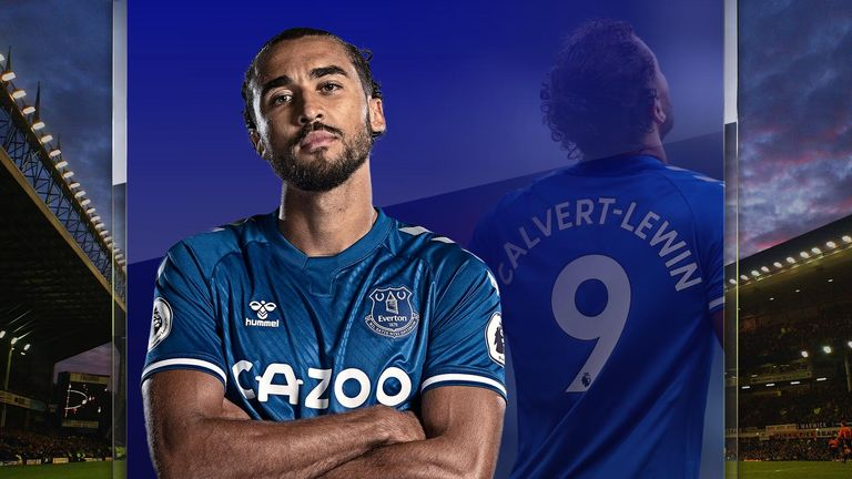 Everton striker Dominic Calvert-Lewin