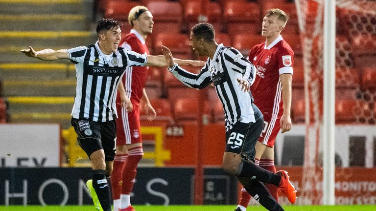 Ethan Erhahon scored a screamer to put St Mirren ahead at Pittodrie