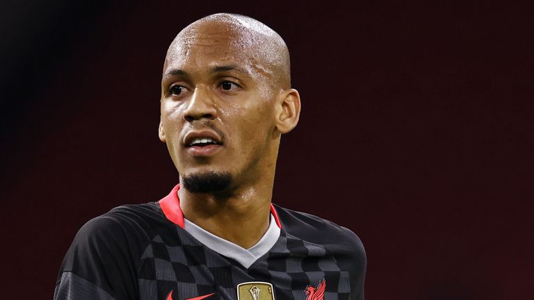 Fabinho impressed at centre-back against Ajax in the Champions League