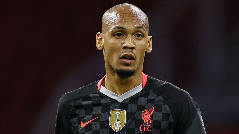 Fabinho is covering at centre-back for the injured Virgil van Dijk