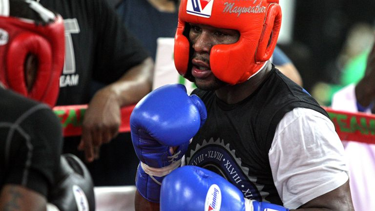 Mayweather retired with a perfect 50-0 record