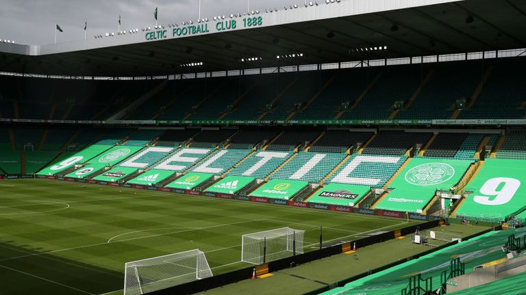 There will be no fans inside Celtic Park for the first Old Firm meeting of the season
