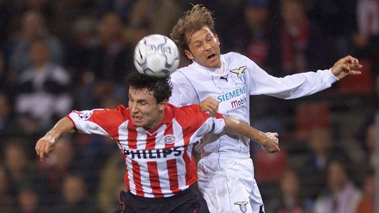 Mendieta left Valenica to join Lazio in 2001
