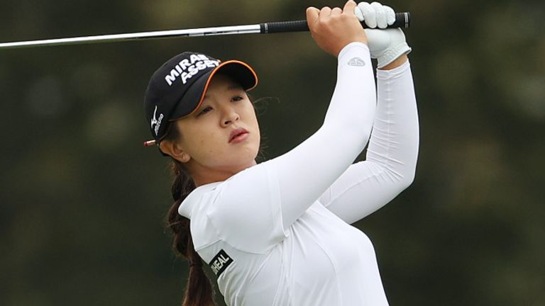 Kim held off a spirited challenge from Inbee Park midway through Sunday's final round
