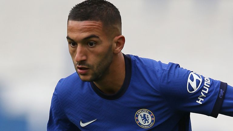 Hakim Ziyech was injured during a pre-season friendly at Brighton