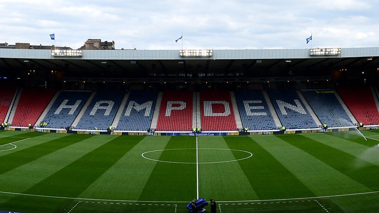 Hampden Park will host both the Scottish Cup semi-finals as well as the final.