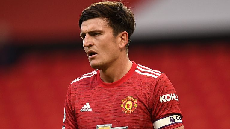 Harry Maguire during Manchester United's 6-1 defeat to Tottenham