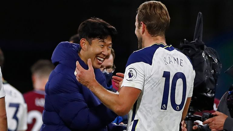Heung-Min Son and Harry Kane combined for the winner at Turf Moor