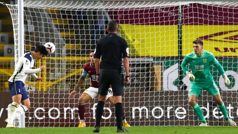 Heung-Min Son scores for Tottenham in Burnley