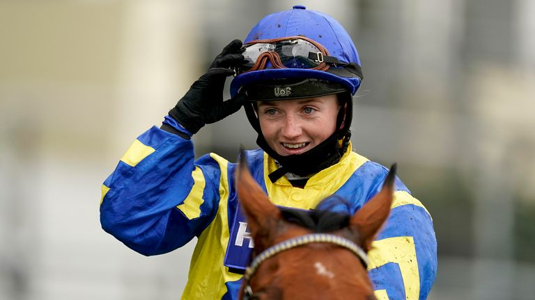 Hollie Doyle after winning the Long Distance Cup at Ascot on Trueshan
