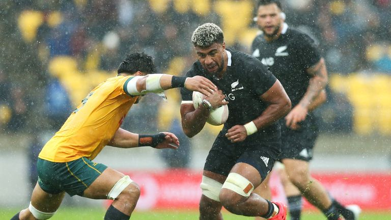 Hoskins Sotutu makes his first start for the All Blacks after coming off the bench in the last two games