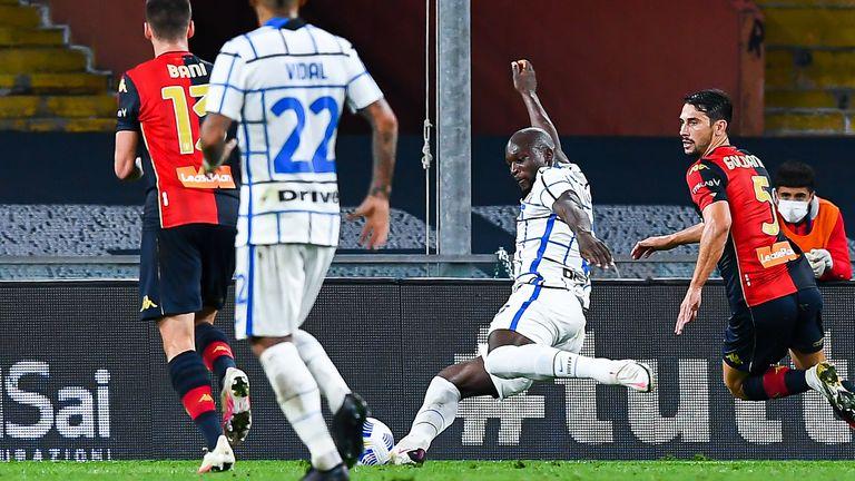 Romelu Lukaku nets Inter Milan's opener at Genoa