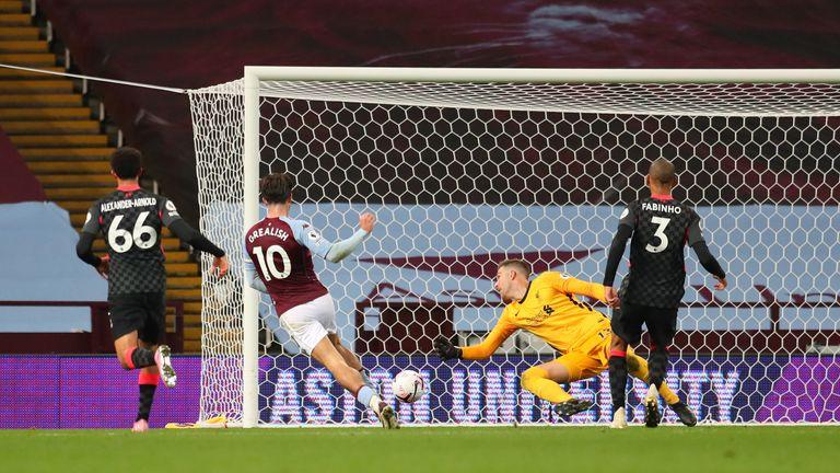Jack Grealish scores Villa's seventh goal