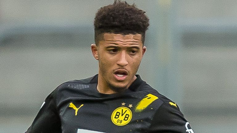 Jadon Sancho has been Manchester United's top transfer target throughout the summer