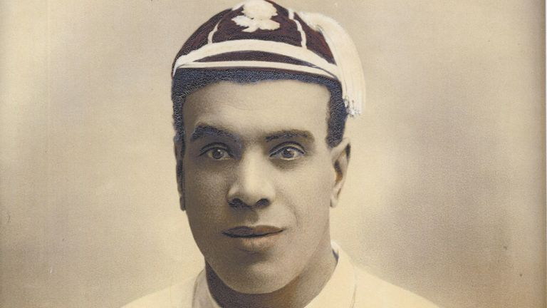 James Peters, the first black man to play for England (Credit: World Rugby Museum, Twickenham)