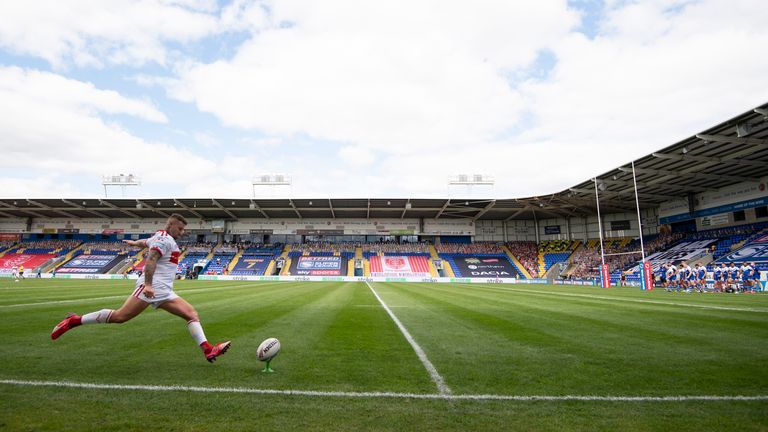 The Halliwell Jones Stadium is one of the central venues which has hosted matches since Super League's resumption
