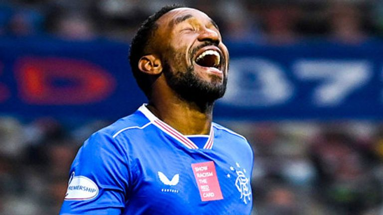 Jermain Defoe scored Rangers' second against Livingston