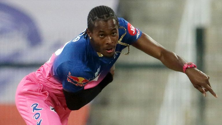 Jofra Archer has been in scintillating form for Rajasthan Royals in the IPL (pic credit BCCI)