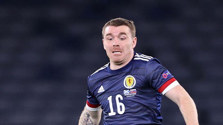 Scotland's John Fleck in action during the UEFA Nations League Group 2, League B match against Slovakia at Hampden Park