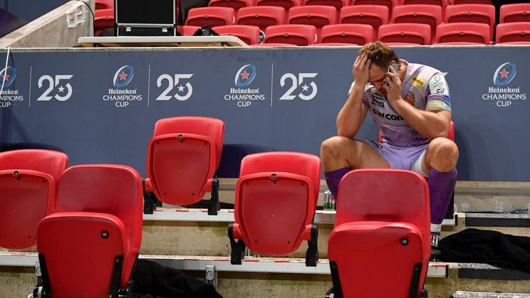 With no crowds allowed, players like Jonny Hill had to do with phone calls to share the news of winning the Champions Cup