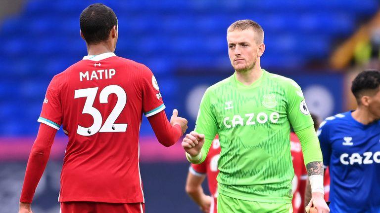 Jordan Pickford made a vital save to deny Joel Matip's header