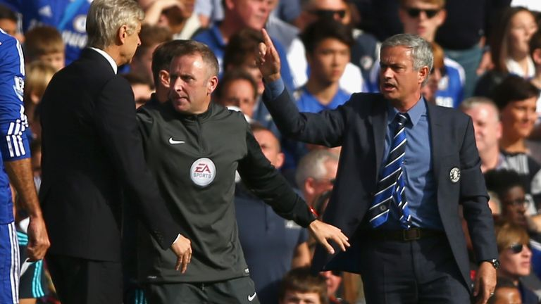 during the Barclays Premier League match between Chelsea and Arsenal at Stamford Bridge on October 4, 2014 in London, England.