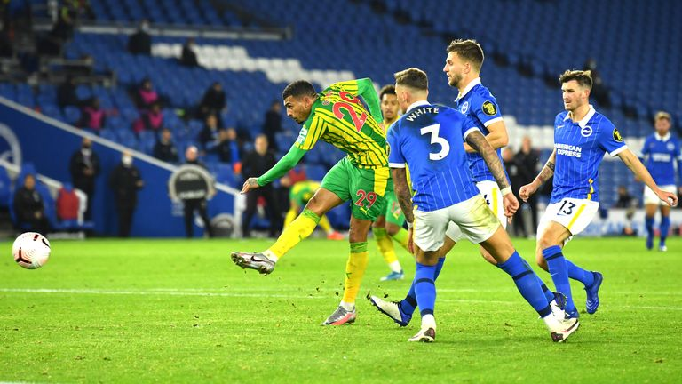 Brighton 1 1 West Brom Karlan Grant S Late Strike Denies Seagulls First Home Win Of The Season Football News Sky Sports