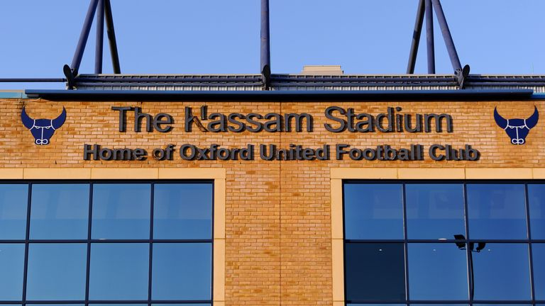 A general view of Oxford United's Kassam Stadium