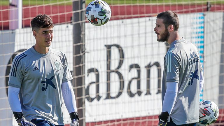 Kepa is competing with David De Gea to be Spain's number one goalkeeper