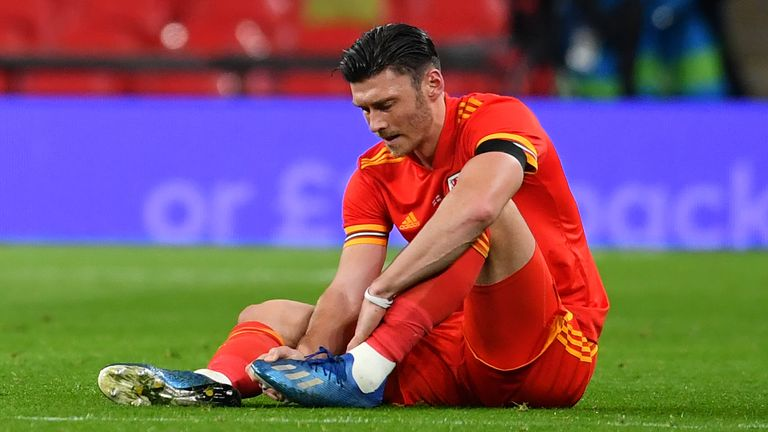 An injury to Wales forward Kieffer Moore saw him taken off before half-time, with his absence a potential blow after scoring three goals in his first eight international caps