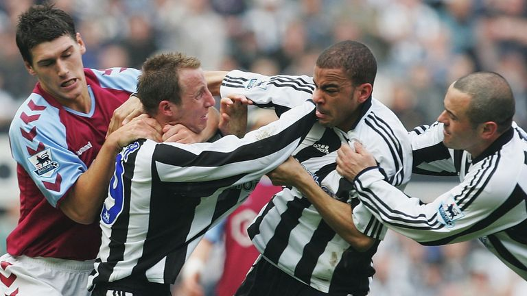 Lee Bowyer and Kieron Dyer's Newcastle fight