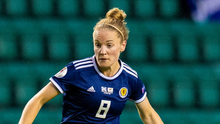 Scotland midfielder Kim Little in action