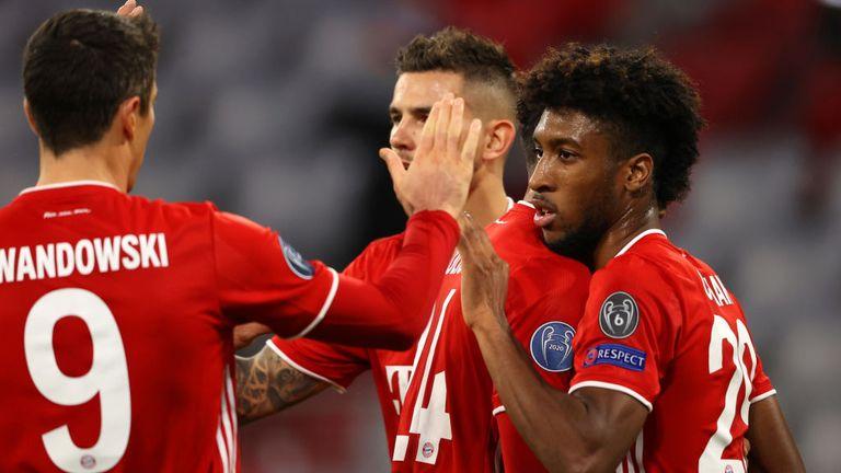 Kingsley Coman scored twice as Bayern Munich beat Atletico Madrid 4-0