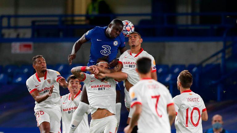 Kurt Zouma had two of Chelsea's six efforts at Stamford Bridge