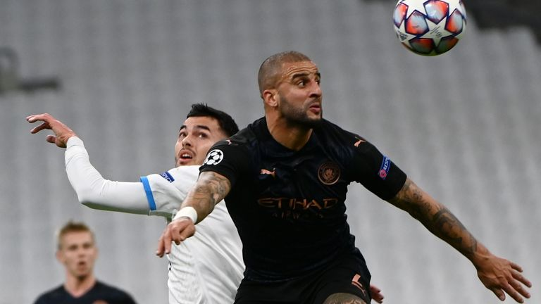 Kyle Walker has started every Man City game this season