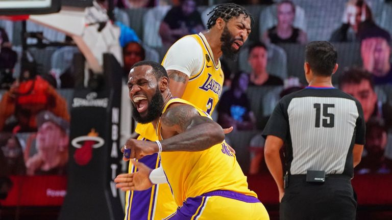 NBA Finals 2020: LeBron James hails Anthony Davis as Lakers beat Heat to  take 3-1 lead | NBA News | Sky Sports