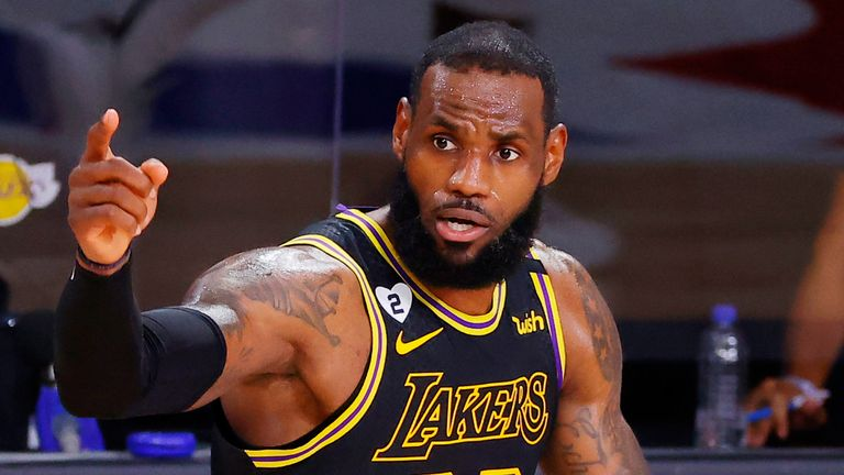 Nba Finals 2020 Lebron James Powers Los Angeles Lakers Into 2 0 Lead Against Miami Heat Nba News Sky Sports